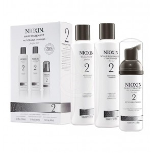 NIOXIN SYSTEM №2. HAIR SYSTEM KIT - NOTICEABLY THINNING FOR FINE HAIR