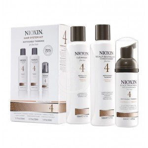 NIOXIN SYSTEM №4. for people with fine, chemically enhanced, noticeably thinning hair
