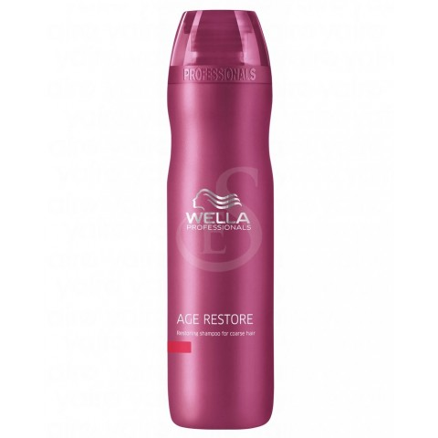 wella age restore restoring shampoo for coarse hair, 250 ml