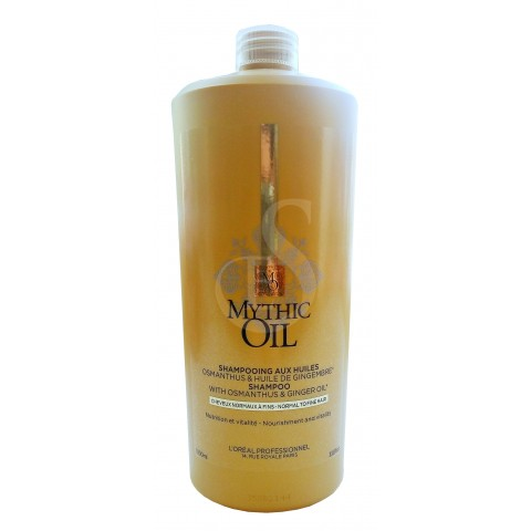 L'Oréal Mythic Oil shampoo with osmanthus and ginder oil, 1000 ml
